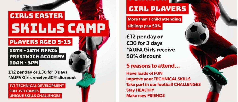Girls Football Skills Camp April 2017