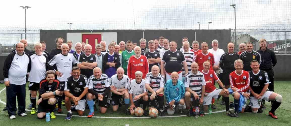 Teams at Walking Football - pro soccer july 17